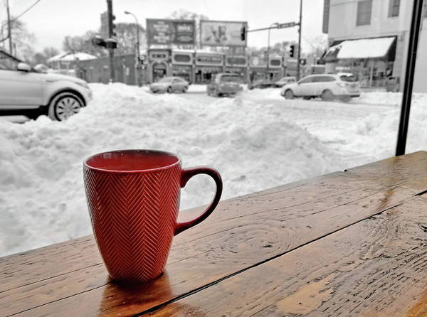 January Photograph - Minneapolis Coffee Shop In Winter by Jim Hughes