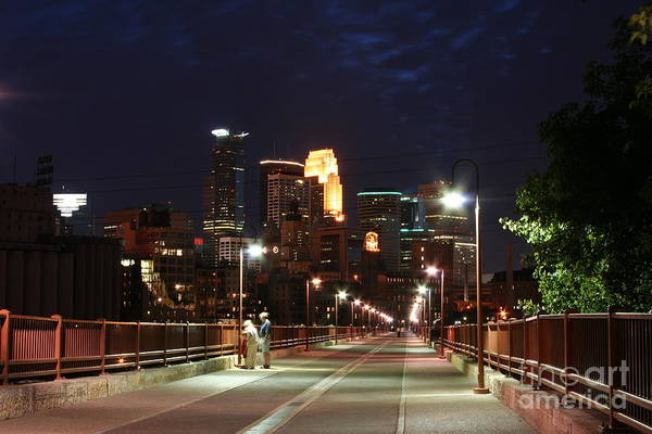 Wall Art - Photograph - Minneapolis From The Stone Arch Bridge by Wayne Moran