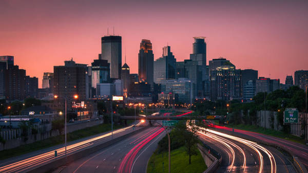 Skylines Wall Art - Photograph - Minneapolis In Motion by Josh Eral