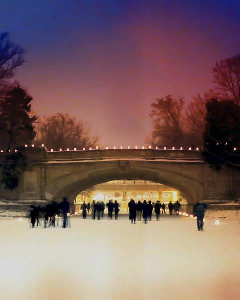 Luminaries Photograph - Minneapolis Loppet At Night by Heidi Hermes