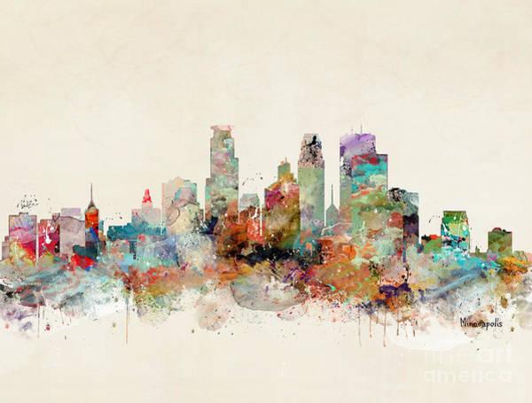 Wall Art - Painting - Minneapolis Minnesota by Bri Buckley