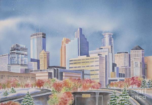 Minneapolis Painting - Minneapolis Skyline by Deborah Ronglien