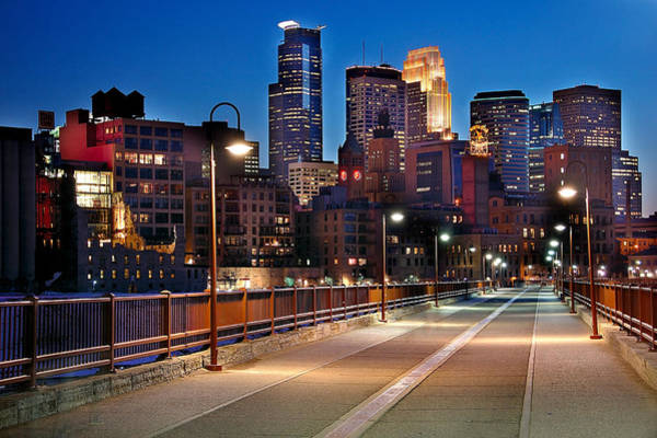 Minneapolis Photograph - Minneapolis Skyline From Stone Arch Bridge by Jon Holiday