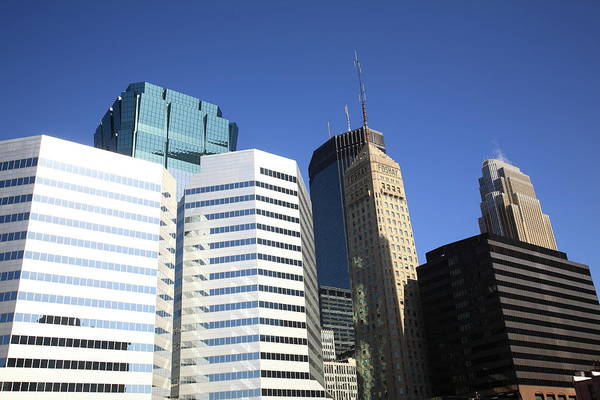 Photograph - Minneapolis Skyscrapers 11 by Frank Romeo