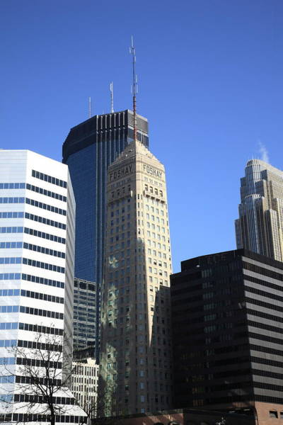 Photograph - Minneapolis Skyscrapers 12 by Frank Romeo