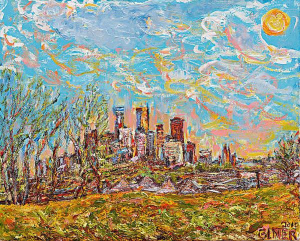 Minnesota Twins Painting - Minneapolis Spring Skyline by Patrick Ginter