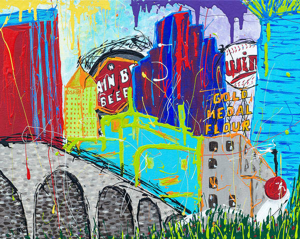Minnesota Twins Painting - Minnehappiness by Amber McDowell