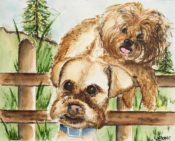 Wall Art - Painting - Minnesota Pooch  by Elaine Duras