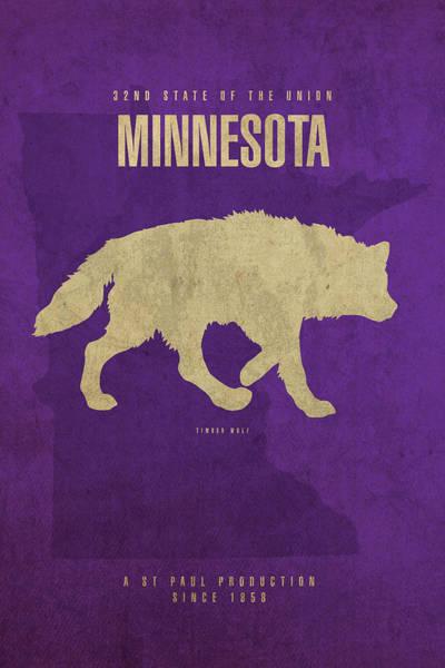 Wall Art - Mixed Media - Minnesota State Facts Minimalist Movie Poster Art by Design Turnpike