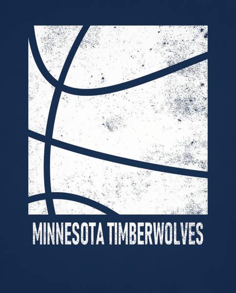 Wall Art - Mixed Media - Minnesota Timberwolves City Poster Art 2 by Joe Hamilton