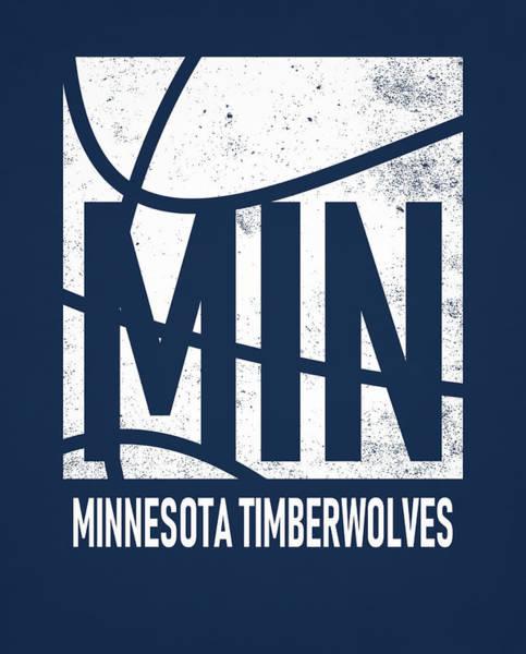 Wall Art - Mixed Media - Minnesota Timberwolves City Poster Art by Joe Hamilton