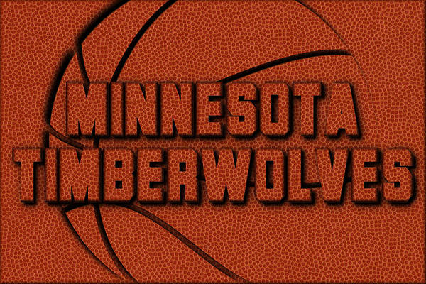 Timberwolves Photograph - Minnesota Timberwolves Leather Art by Joe Hamilton
