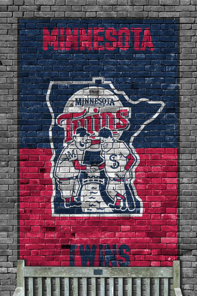 Minnesota Twins Painting - Minnesota Twins Brick Wall by Joe Hamilton