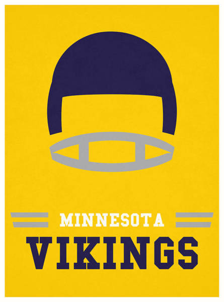 Wall Art - Mixed Media - Minnesota Vikings Vintage Nfl Art by Joe Hamilton