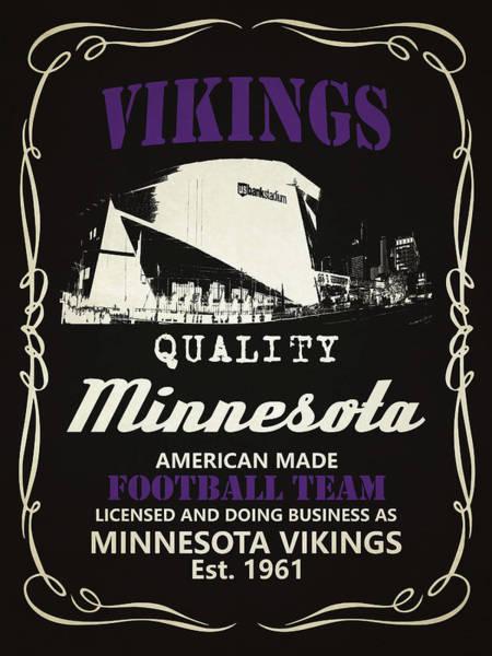 Whiskey Mixed Media - Minnesota Vikings Whiskey by Joe Hamilton