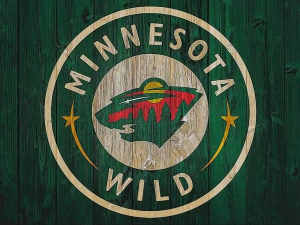 Wall Art - Mixed Media - Minnesota Wild Graphic Barn Door by Dan Sproul