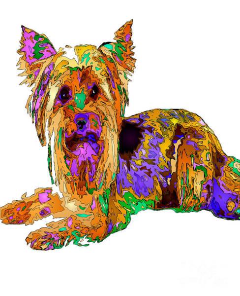 Digital Art - Minnie We Miss You. Pet Series by Rafael Salazar