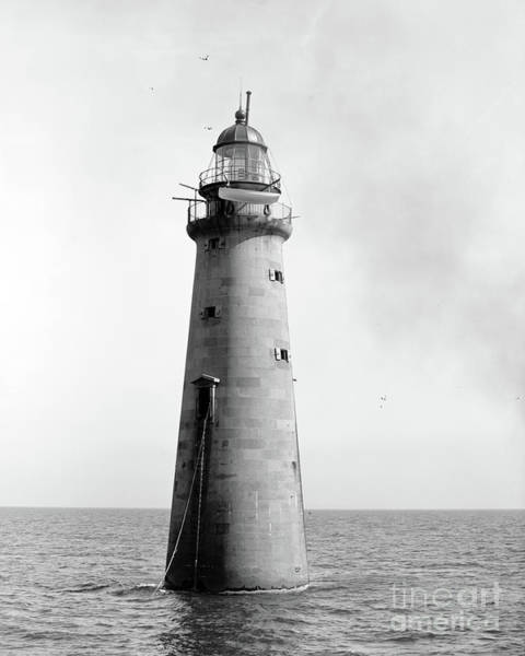 Photograph - Minot's Ledge Lighthouse, Boston, Mass Vintage by Edward Fielding