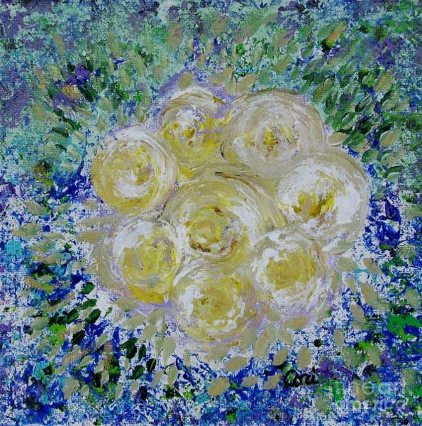 Painting - Min's White Bouquet by Corinne Carroll