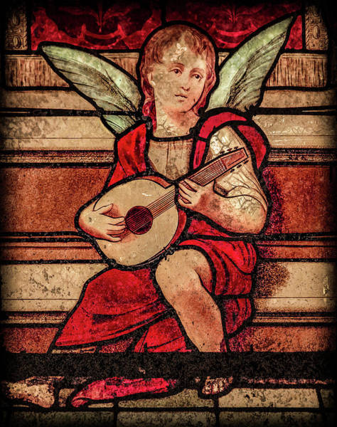 Photograph - Paris, France - Minstrel Angel by Mark Forte