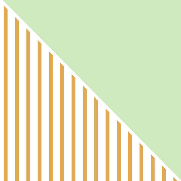 Decorative Digital Art - Mint And Gold Geometric by Linda Woods