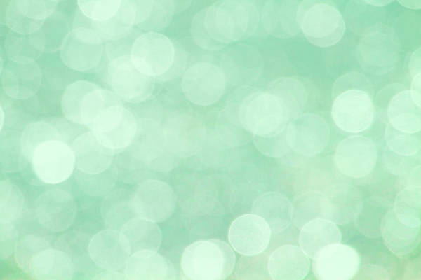 Photograph - Mint Green Abstract Bokeh by Peggy Collins
