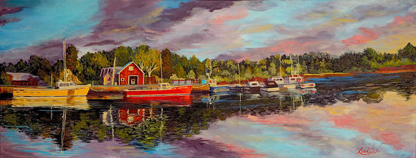 Prince Edward Island Painting - Minute Of Gold by Lorraine Vatcher