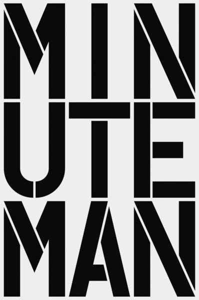 Wall Art - Painting - Minuteman by Three Dots