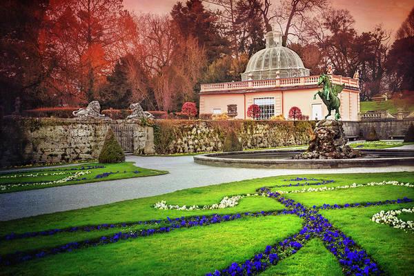Lion Statue Photograph - Mirabell Gardens Salzburg  by Carol Japp