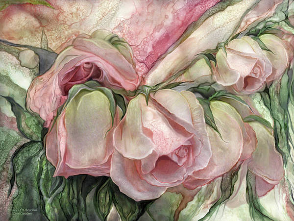 Mixed Media - Miracle Of A Rose Bud - Pink by Carol Cavalaris