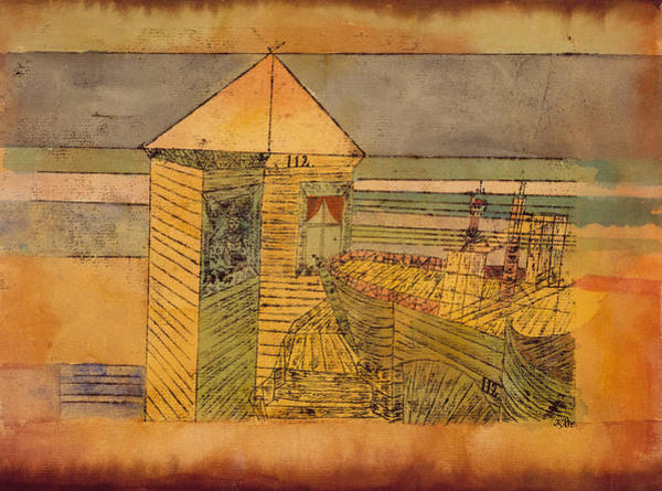 Drawing - Miraculous Landing by Paul Klee