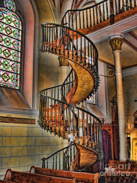 Loretto Chapel Photograph - Miraculous Staircase by Jim Sweida