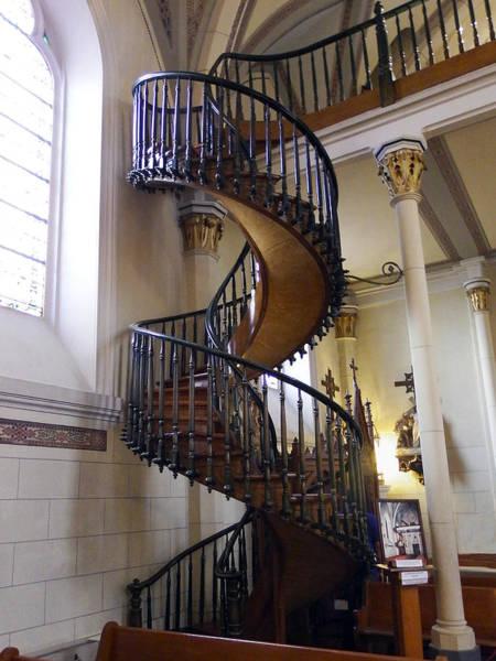 Loretto Chapel Photograph - Miraculous Stairs by Kurt Van Wagner