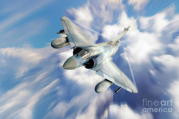 Mirage Digital Art - Mirage 2000 by J Biggadike