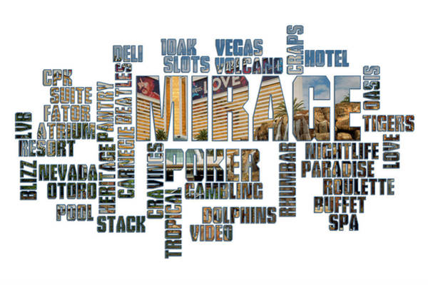Mirage Digital Art - Mirage Typography by Ricky Barnard
