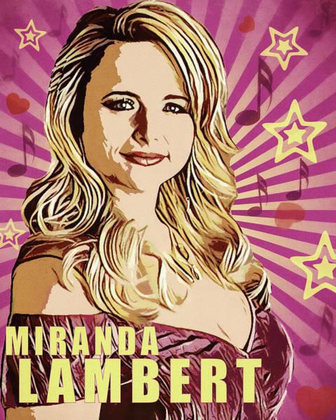 Wall Art - Mixed Media - Miranda Lambert by Dan Sproul