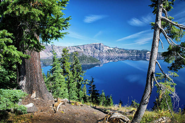 Photograph - Mirror At Crater Lake by Frank Wilson