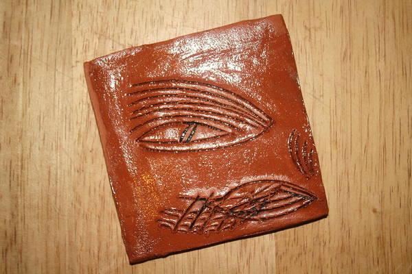 Ceramic Art - Mirror Eye - Tile by Gloria Ssali