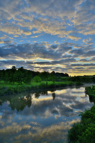 Photograph - Mirror Image Of Sunrise In Glacial Park by Ray Mathis