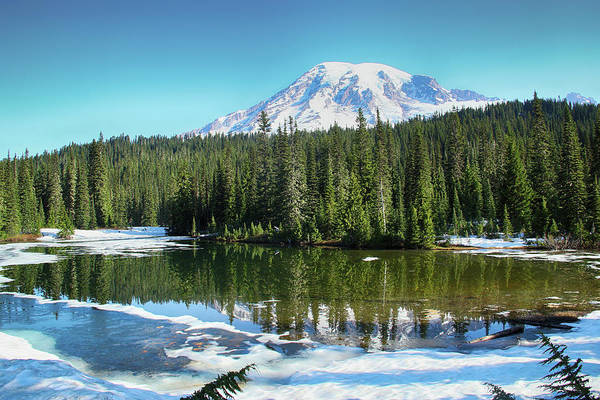 Photograph - Mirror Lake And Mount Rainier by Marie Leslie