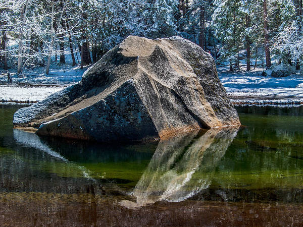 Merced River Photograph - Mirror Lake Boulder by Bill Gallagher
