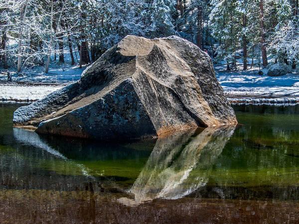 Merced Photograph - Mirror Lake Boulder by Bill Gallagher