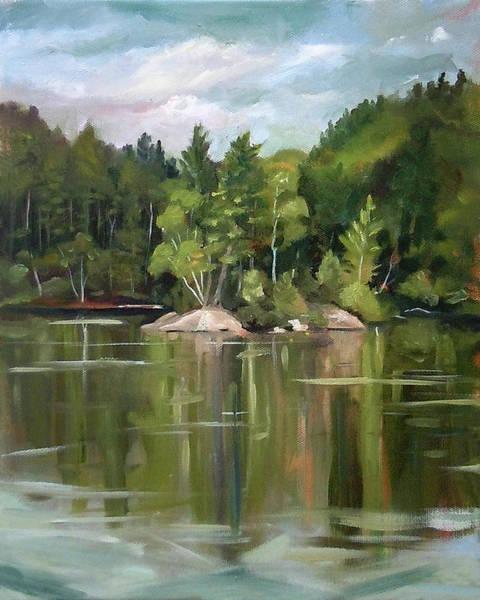 Painting - Mirror Lake En Plein Air by Nancy Griswold