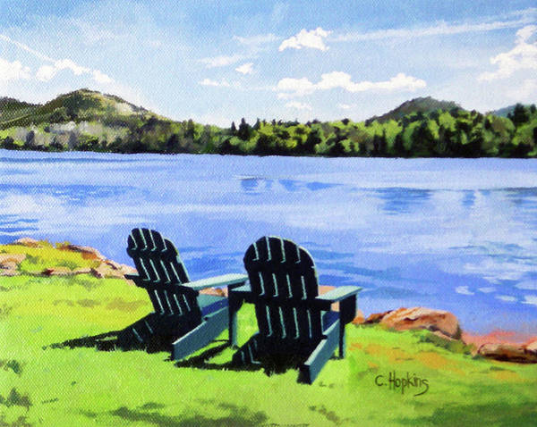 Wall Art - Painting - Mirror Lake Lake Placid New York by Christine Hopkins