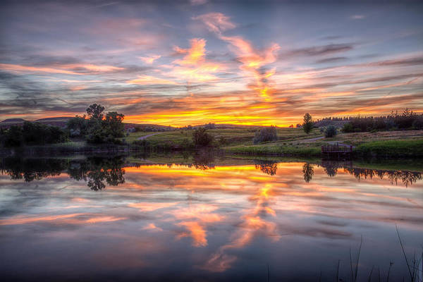 Photograph - Mirror Lake Sunset by Fiskr Larsen