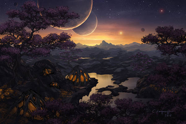 Shipping Digital Art - Mirror Lakes by Cassiopeia Art