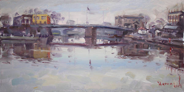 Reflections Painting - Mirror Reflection Of Gateway Harbor by Ylli Haruni
