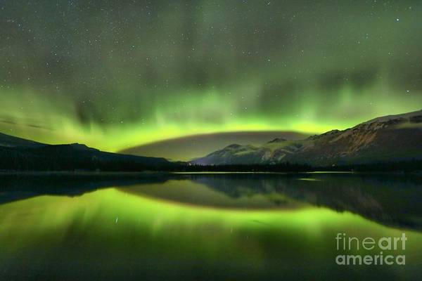 Photograph - Mirrored Northern Lights by Adam Jewell