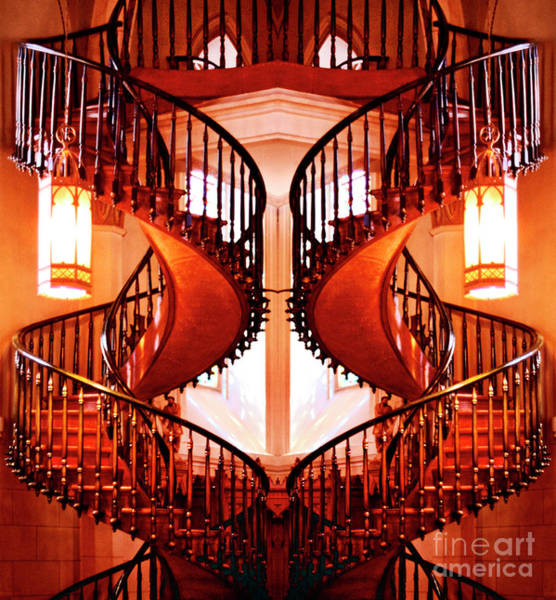 Photograph - Mirrored Stairs by Paul W Faust - Impressions of Light