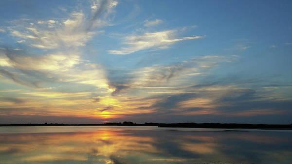 Photograph - Mirrored Sunset by Liza Eckardt